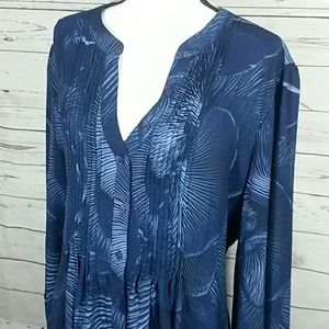 Melissa McCarthy seven7 NWT button up top